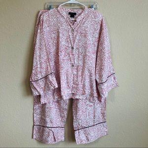 Natori Asian Dragon Print Pajama Set